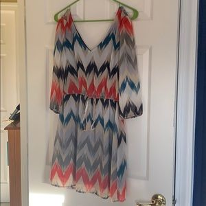 V-neck Chevron Dress